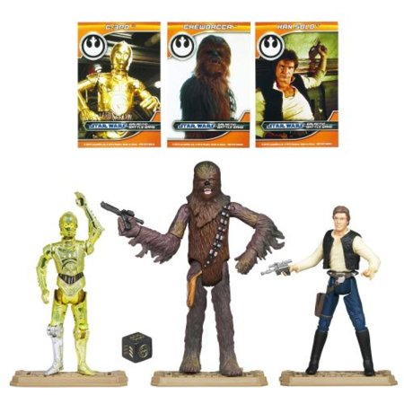 Star Wars: Battle Packs 2012 Episode IV A New Hope Han Chewie C-3PO Action Figure Battle Pack