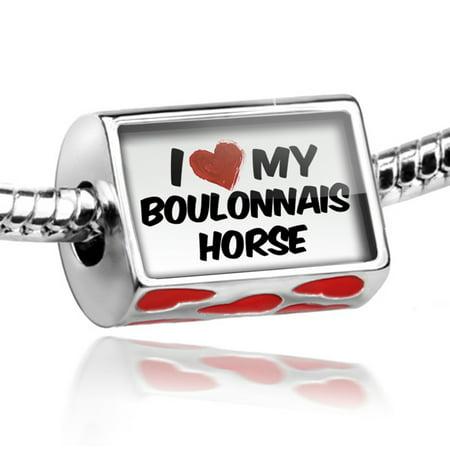 Bead I Love My Boulonnais Horse Charm Fits All European Bracelets