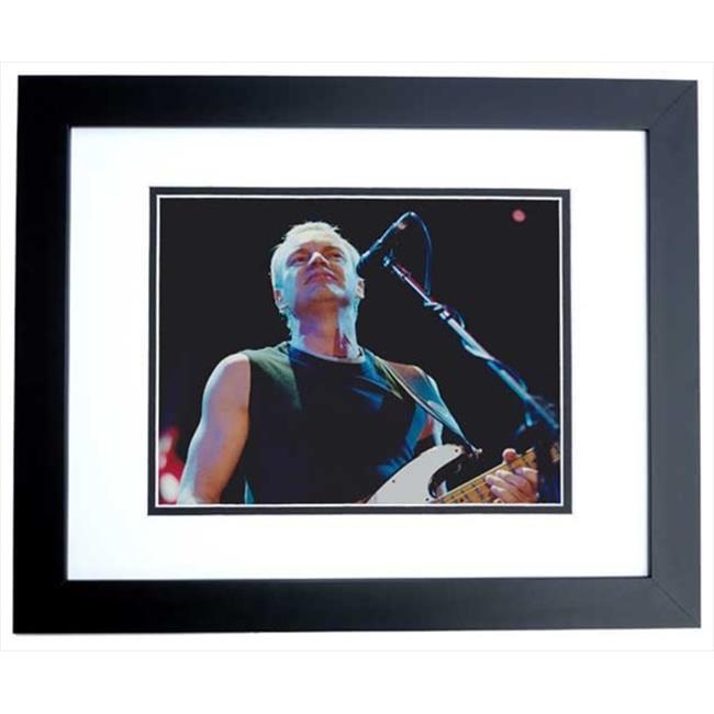 Sting Unsigned 8X10 Inch Concert Photo Black Custom Frame