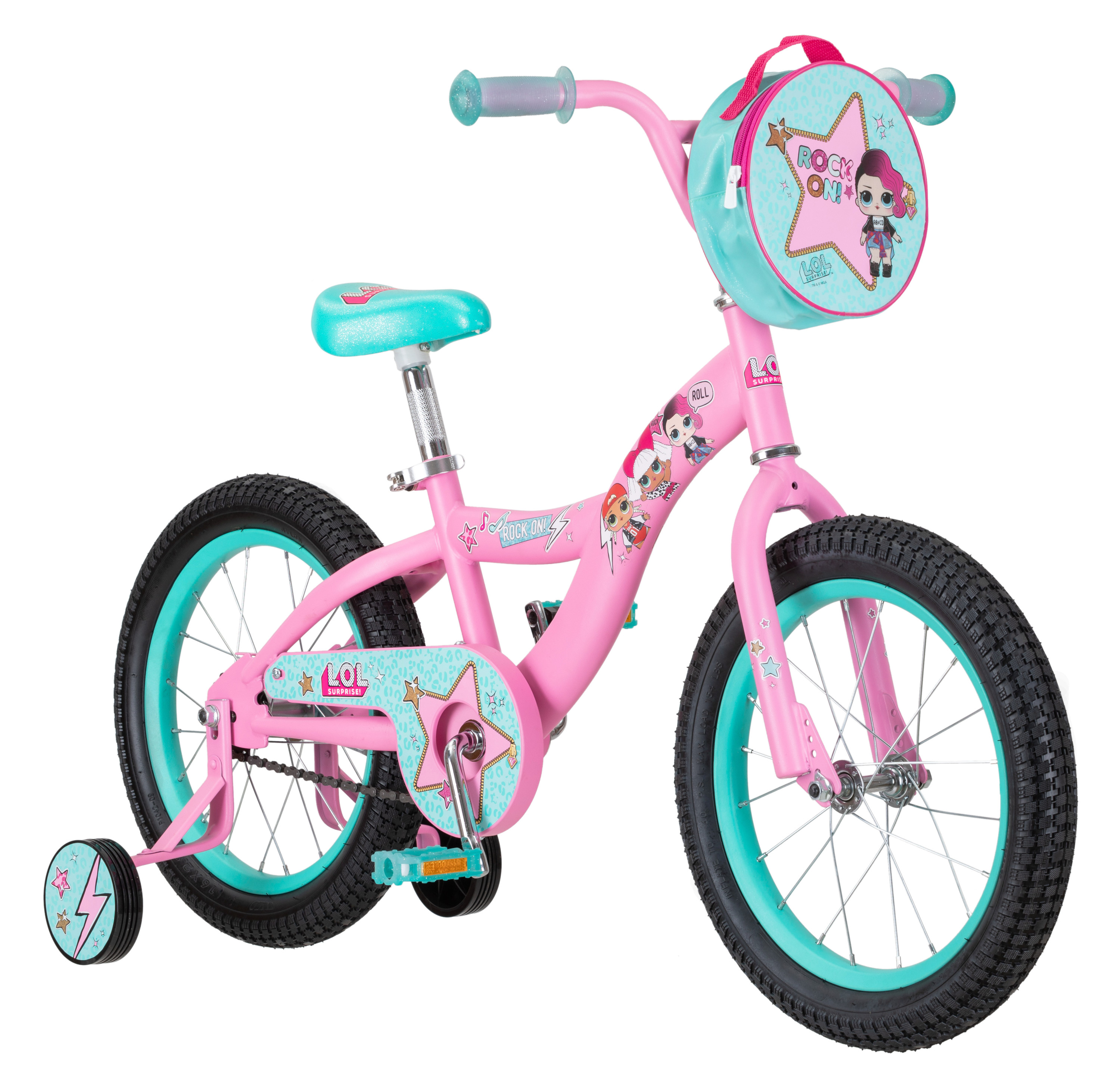 LOL Surprise kids bike, 16-inch wheel, Girls, Pink