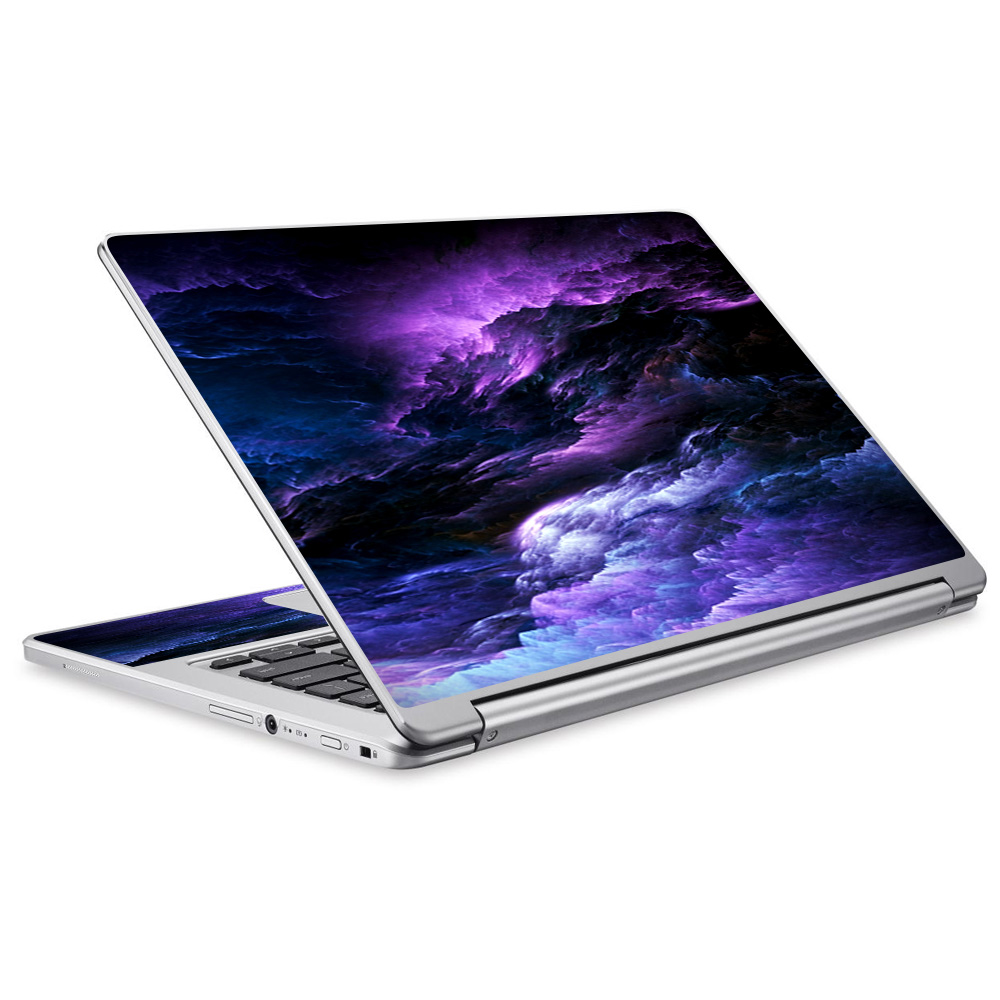 Skins Decals For Acer Chromebook R13 Laptop Vinyl Wrap / Purple Storm Clouds