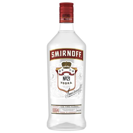 Smirnoff No. 21 80 Proof Vodka, 1.75 L (Plastic)