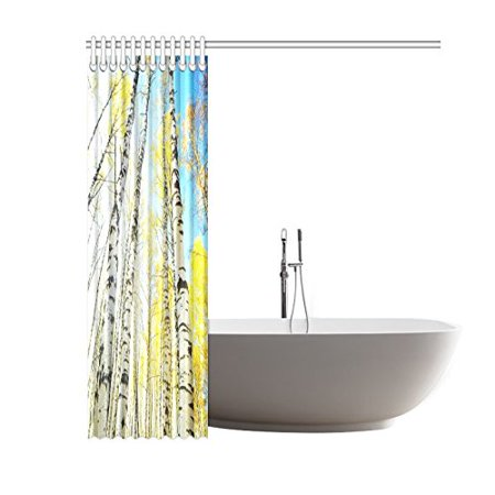 GCKG Birch Forest Sunlight Shower Curtain 60x72 Inches Polyester Fabric Bathroom Sets Home Decor - image 2 de 3