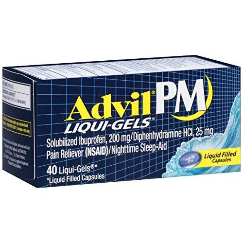 3 Pack Advil PM Liqui-Gels Night Time Pain Reliever 40 Liqui-Gels Each