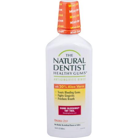 The Natural Dentist Healthy Gums Antigingivitis Rinse, Orange Zest, 16.9 Oz