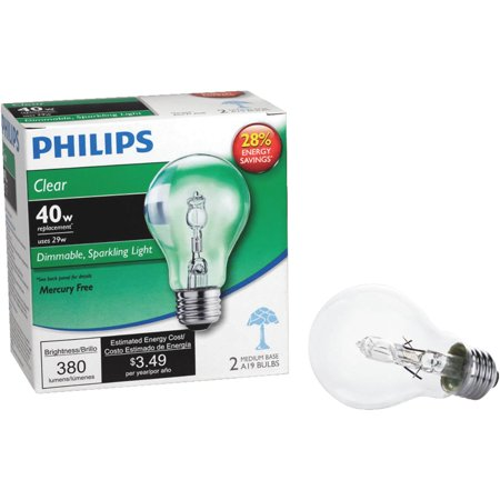 Philips Ecovantage A19 Medium Halogen Light Bulb