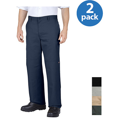 Dickies Men's Double-Knee Work Pants, 2 Pack Value Bundle