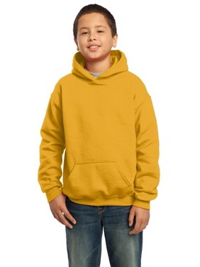 Gildan Boys Long Sleeve Front Pouch Pocket Hooded Sweatshirt. 18500B
