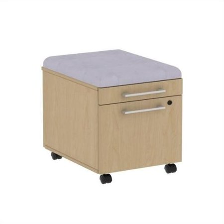 Bush BBF 300 Series Mobile Pedestal in Natural Maple and Morning Dew