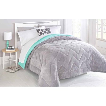 Mainstays Two Toned Chevron Stitched Reversible Plush