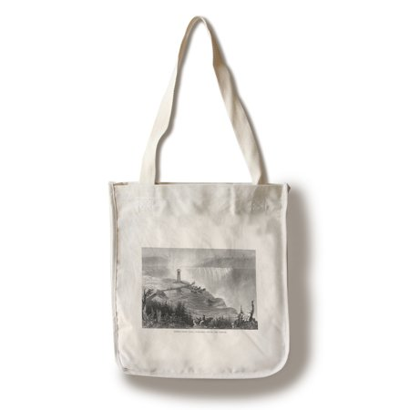 Niagara Falls, New York - View of Horseshoe Falls and the Tower (100% Cotton Tote Bag - Reusable)