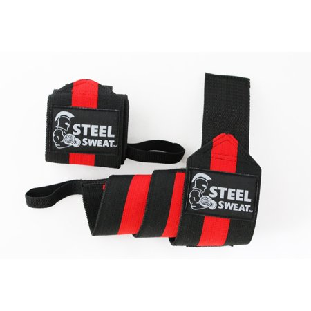 Steel Sweat Wrist Wraps 24 inches for Weight Lifting, Gym and Powerlifting - Premium Grade Heavy Duty to Extreme Strength for best wrist support when