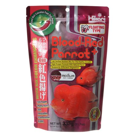 Hikari Blood Red Parrot+ Medium Pellet - 11.7 oz - (3.5-4.0 mm) - Pack of