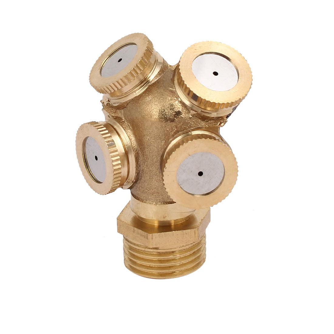 1/2BSP DN15 4 Hole Brass Mist Spray Nozzle Garden Sprinklers Irrigation Fitting