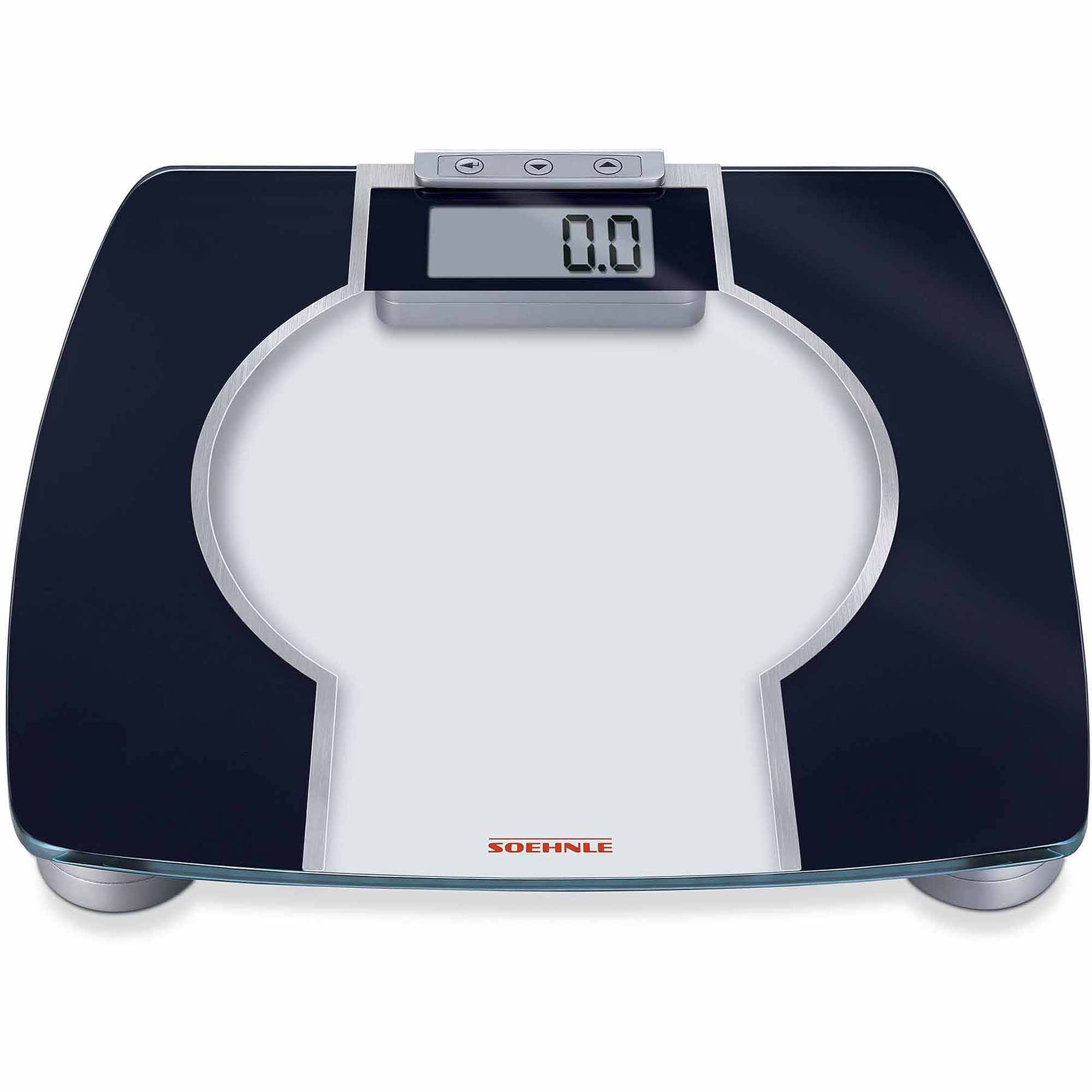 Soehnle BODY CONTROL CONTOUR F 3 Precision Digital Analytic BMI Scale, 330 lb Capacity, Anthracite