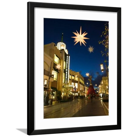 The Grove Mall by Farmer's Market, West Hollywood, Los Angeles, California, USA Framed Print Wall Art By Walter (Mall In Garden Grove)