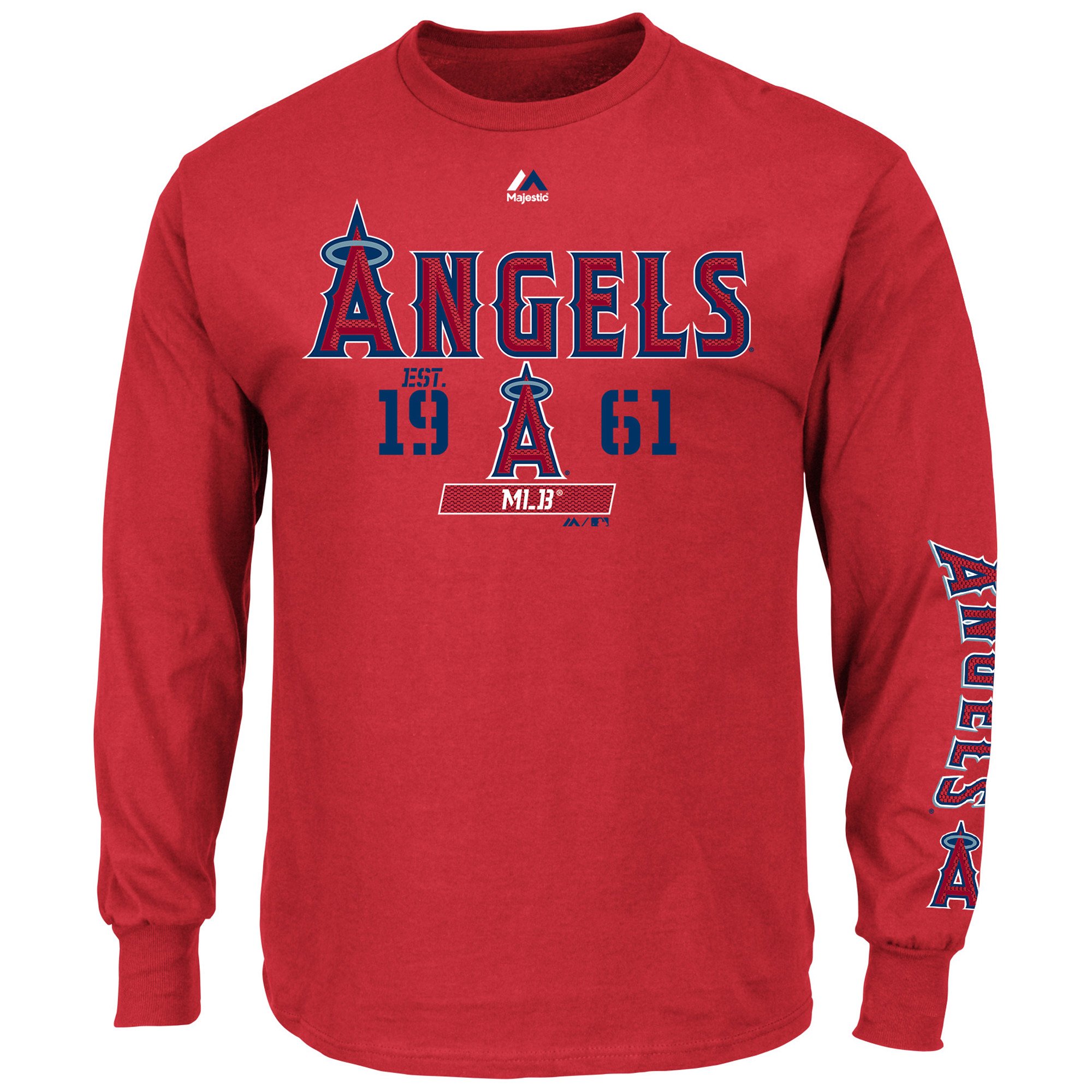 Los Angeles Angels Majestic Flawless Victory Long Sleeve T-Shirt - Red