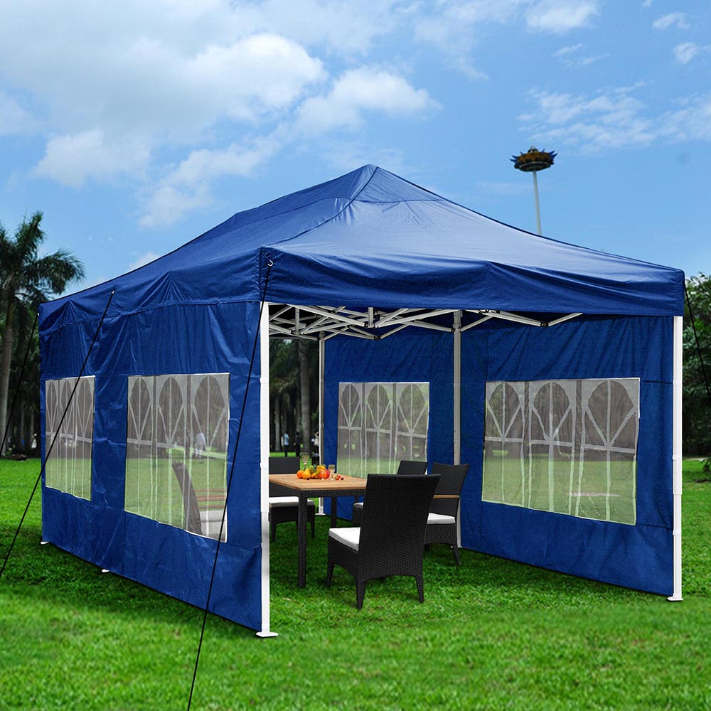 Yescom 10'x20' Easy Pop Up Canopy Folding Gazebo Wedding Party Tent with Removable Sidewall Carry Bag Outdoor by Yescom