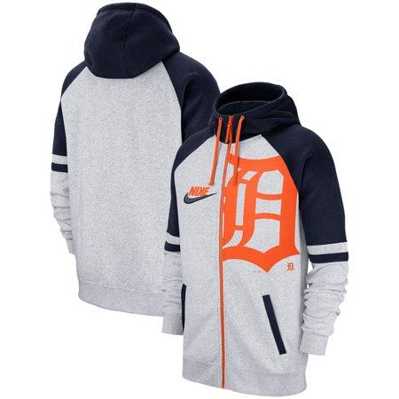 best loved 6cac5 109c6 Detroit Tigers Nike Full-Zip Hoodie - Heathered Gray - Walmart.com