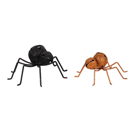 Attraction Design Home Halloween Bell Spider Figurine (Set of 2)