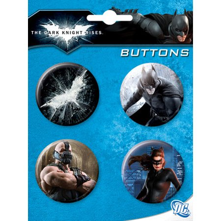 Batman The Dark Night Rises 4 Piece Button Set