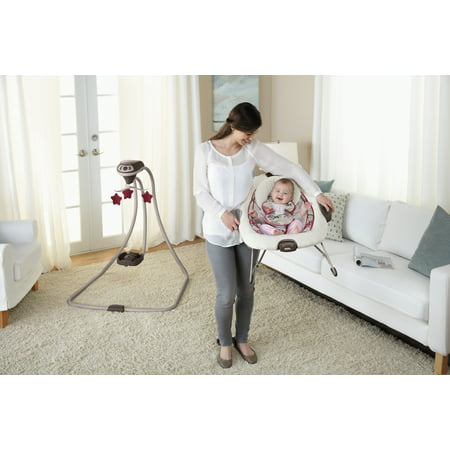 8944f4697 Graco Duet Connect LX Baby Swing and Bouncer - Walmart.com