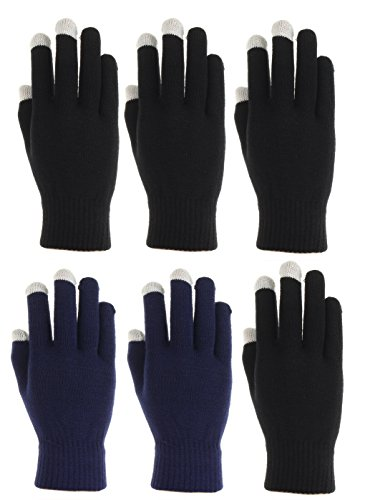 iPhone Samsung 2 Pack Woman/'s Texting Gloves Winter Knit Touch Screen Glove