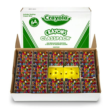 Crayola Crayon Classpack, 64 Colors, Pack Of 832 (64 Pack Of Crayons In Color Order)