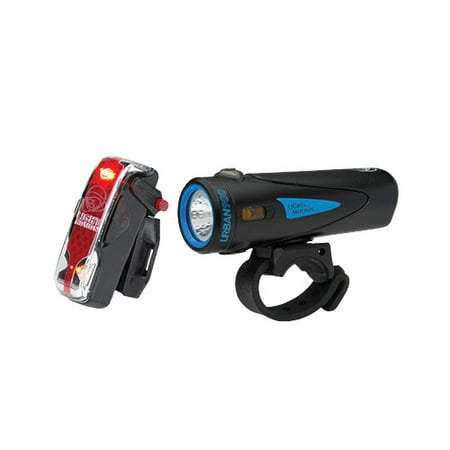 Light   Motion  Urban 900 Longfin  Vis 180 Pro  Light  Set  Black