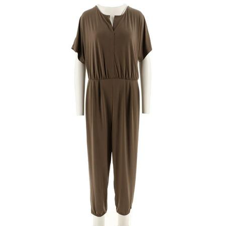 Dolman Crop - Lisa Rinna Collection Dolman Slv Knit Jumpsuit A292275