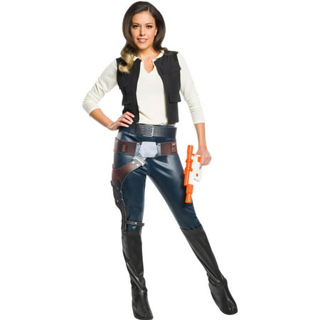Star Wars Womens Classic Han Solo Halloween Costume - Princess Leia Han Solo Costumes