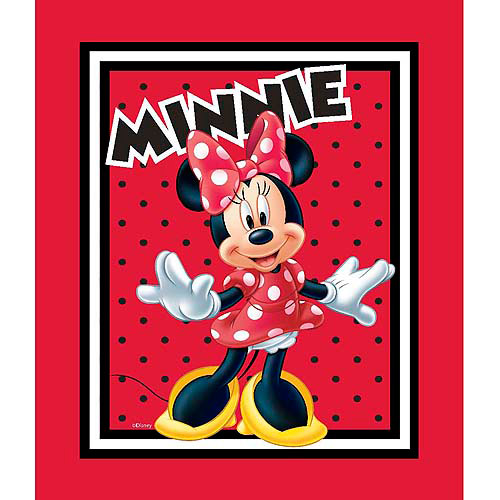 Springs Creative Disney Mickey Everyday Minnie Loves To Shop Panel Fabric by the Yard