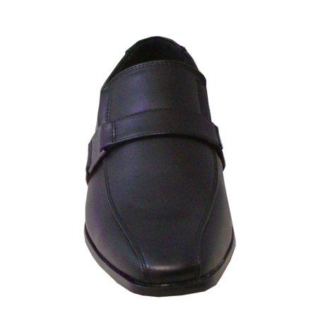 Men Shoes Formal Casual Loafer Leather  Black US6 Mens Black Formal Tuxedo Shoes