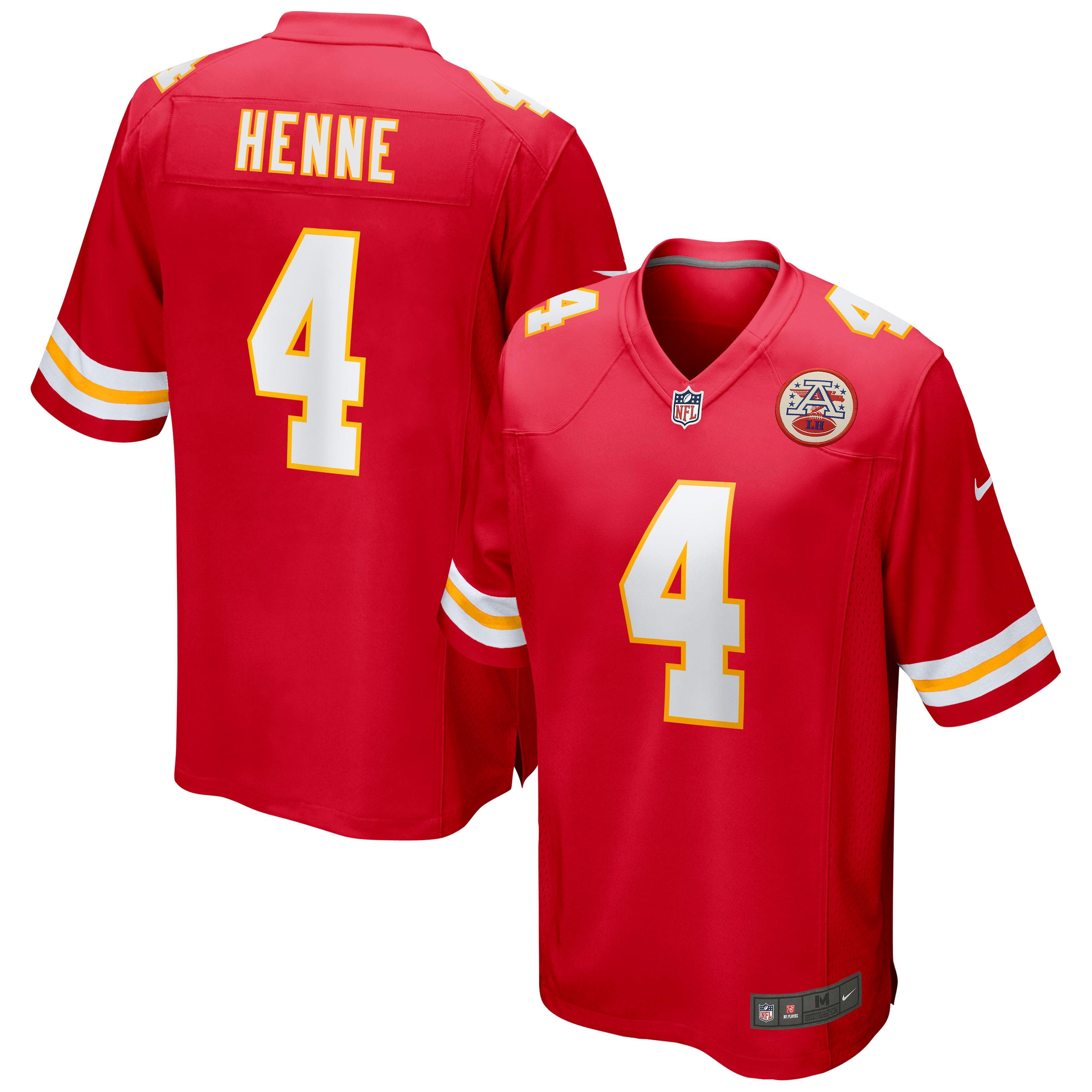 Chad Henne Kansas City Chiefs Nike Game Jersey - Red - Walmart.com