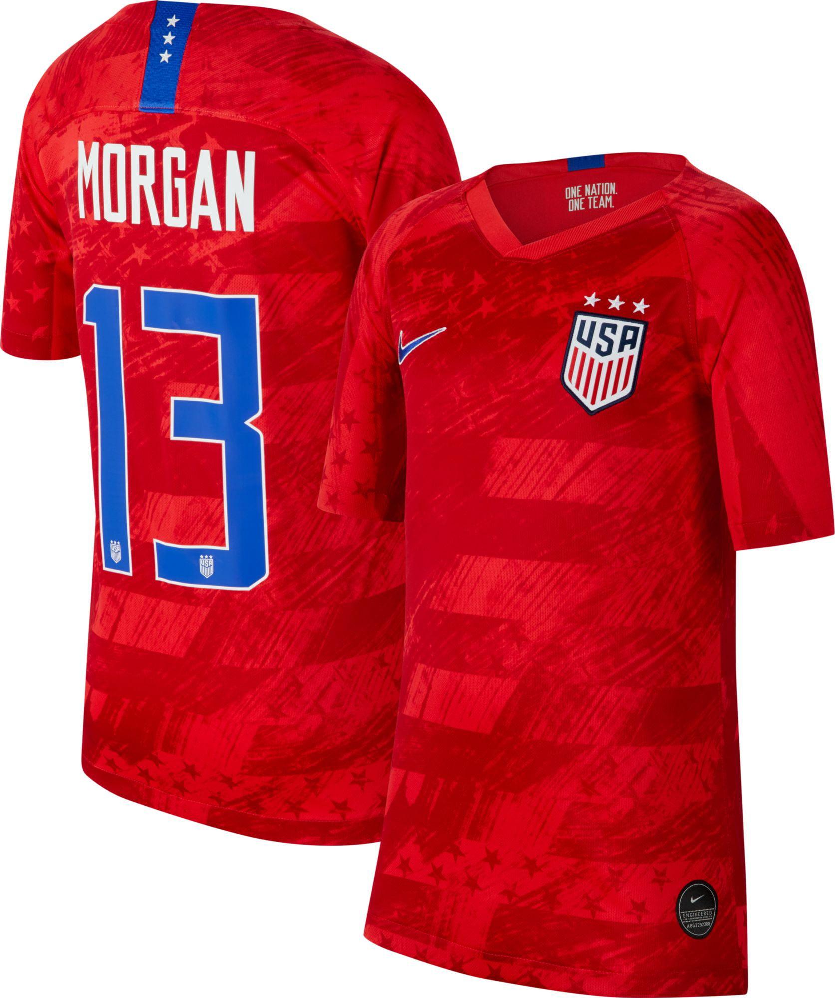 Nike Youth 2019 FIFA Women's World Cup USA Soccer Alex Morgan #13 Breathe Stadium Away Replica Jersey
