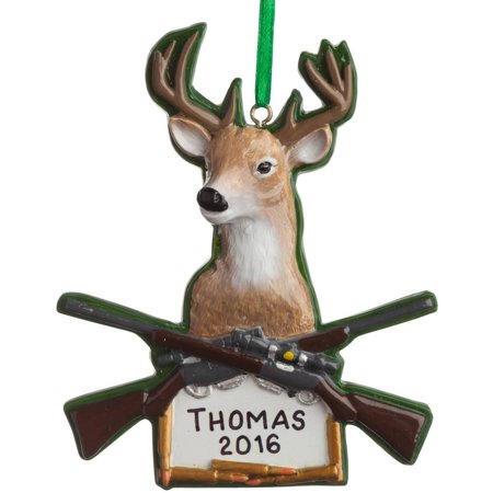 Deer Hunting Personalized Christmas Ornament thumbnail