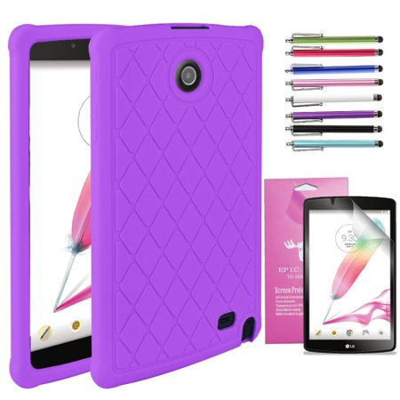 LG G Pad 2 8.0 /G Pad F 8.0 Case, EpicGadget(TM) Silicone Rubber Gel Cover Case with Full Protection For LG Gpad 2 8.0
