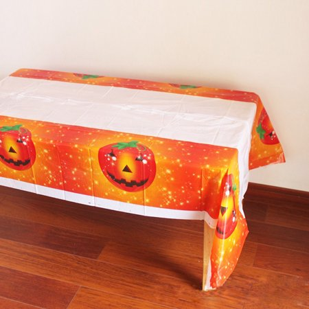 Tablecloth Disposable Happy Halloween Printed PVC Cartoon Tablewaer Fancy B