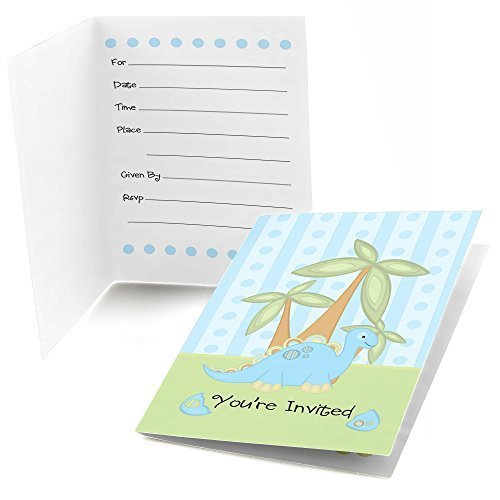 Baby Dinosaur - Fill In Baby Shower Invitations (8 count)