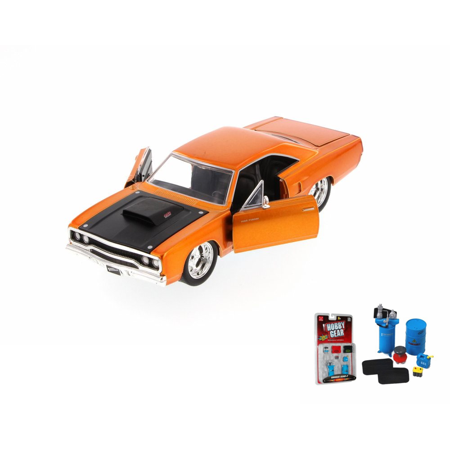 Diecast Car Garage Diorama Package Fast Furious Doms Plymouth