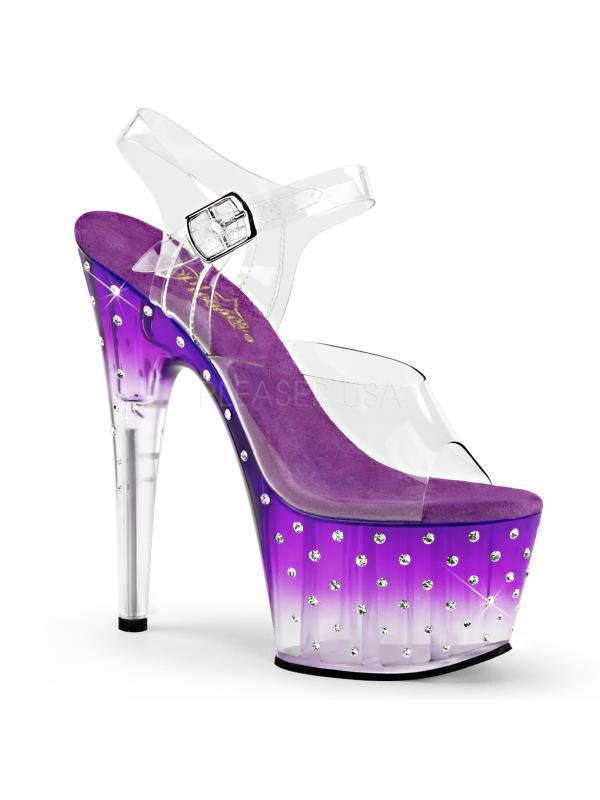 STDUS708T/C/PP-C Pleaser Platforms Specialty Collection Clr/Purple-Clr Size: 8 Clr/Purple-Clr Collection 8666f0