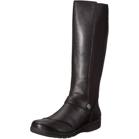 Clarks Women's Cheyn Meryl Fashion Boot, Black Leather, 6 W US - image 1 de 1