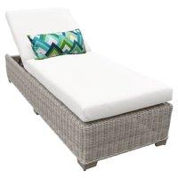 TK Classics Coast Chaise Outdoor Wicker Patio Furniture