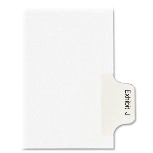 "90000 Series Side Tab Index Divider Printed Tab(s) Character Exhibit J 8.50"" Divider Width x 11""... by Kleer-Fax, Inc"