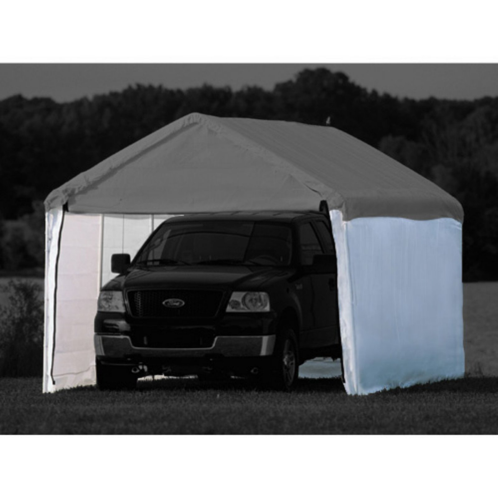 "ShelterLogic Super Max 10' x 20' White Canopy Enclosure Kit Fits 2"" Frame"