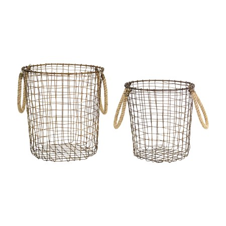 Melrose Decorative Basket - Set of 2 - Baskets At Michaels