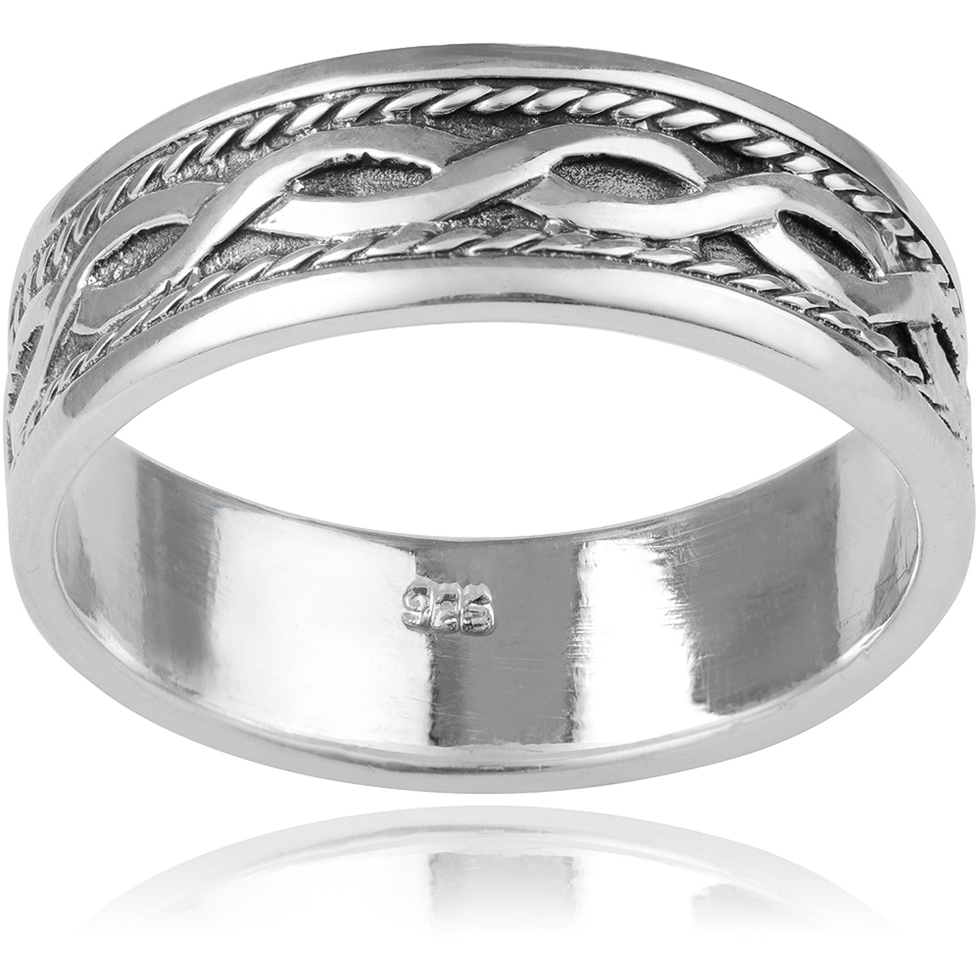 Daxx Men's Sterling Silver Celtic Knot Fashion Ring