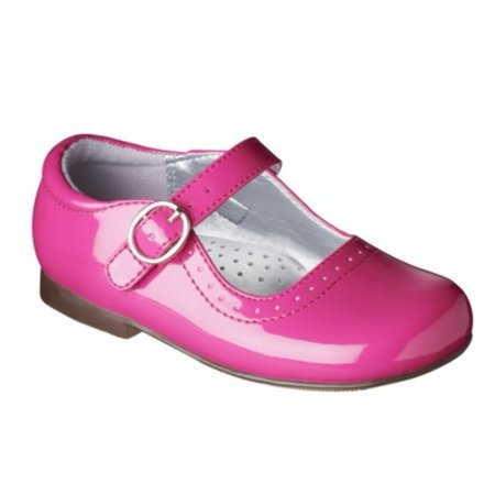 Cherokee Toddler Girls Pink Patent Dress Shoes  Mary Janes Drea (Pink Patent Mary Jane)