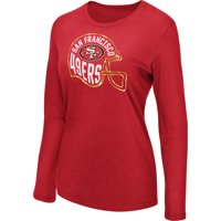Women's Majestic Scarlet San Francisco 49ers Turn it Loose Long Sleeve T-Shirt