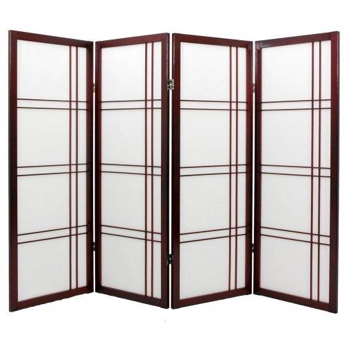 Oriental Furniture Shoji Low Screen Room Divider - 48 inch
